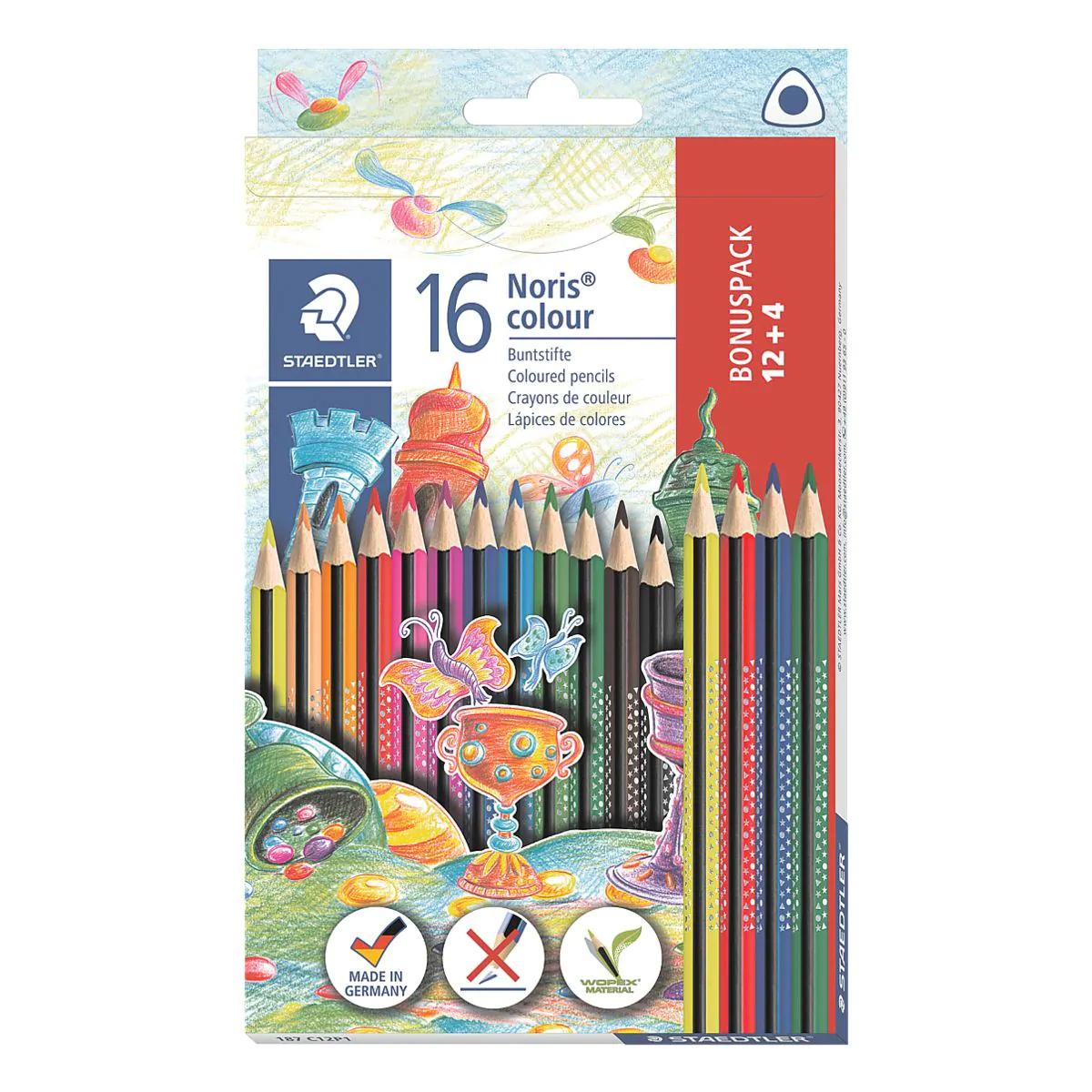 Staedtler Noris Colour Buntstift, Dreikantform Set mit 16 brillanten Stiften im Kartonetui für 2,49€ (Amazon Prime)