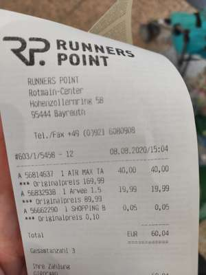 Lokal Bayreuth - Runners Point 50% auf alles