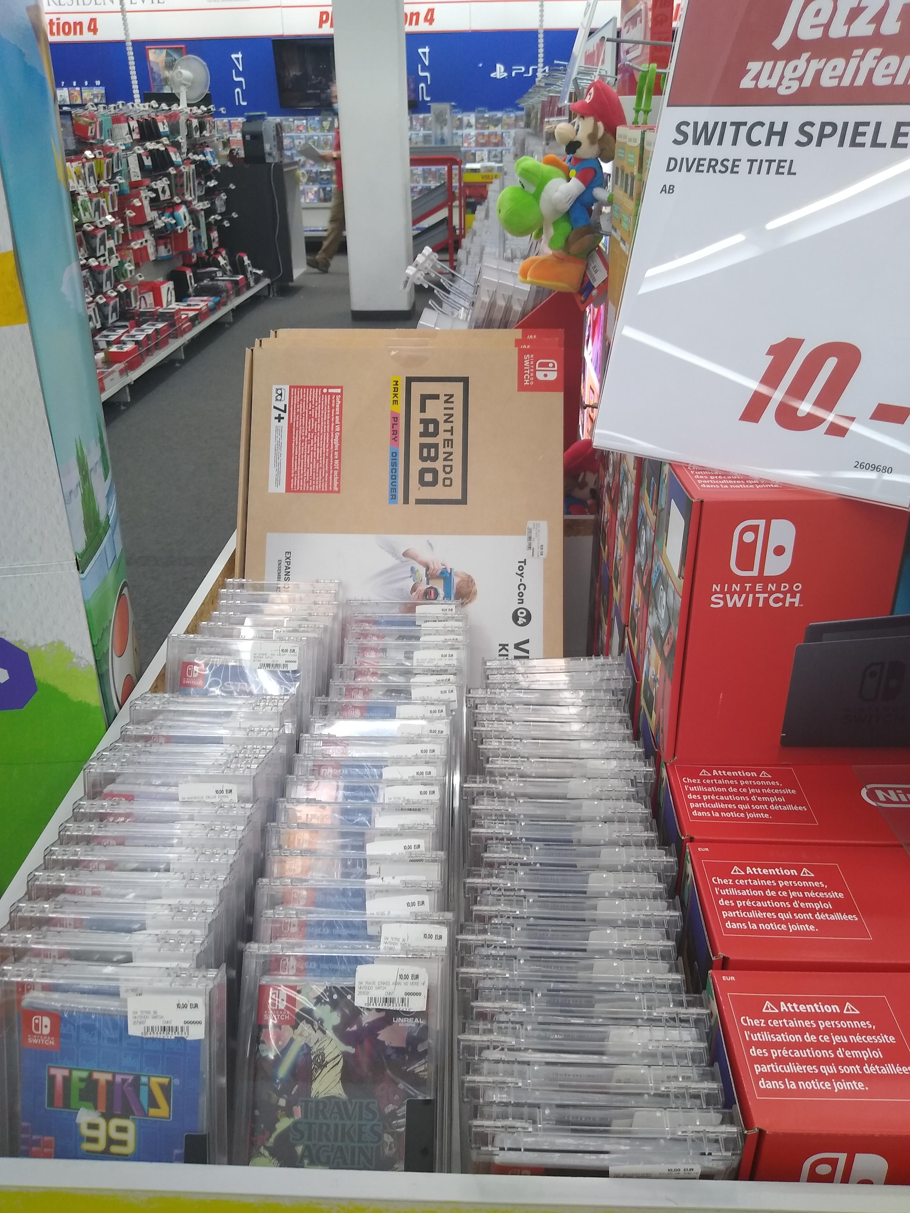 [Lokal Media Markt Aachen] Diverse Nintendo Switch-Spiele (Travis Strikes again, Overwatch, Tetris 99 etc.) für 10 €