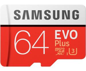 Samsung EVO Plus microSDXC 64GB (R: max. 100MB/s, W: max. 60MB/s, UHS-I U3, Class 10) inkl. SD-Adapter für 9,75€ inkl. VSK [Saturn]