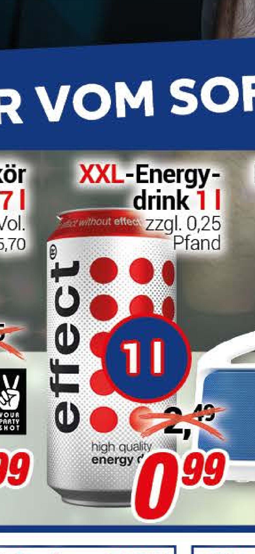 [Lokal] Center Shop Effect XXL Energydrink 1 Liter