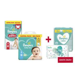 [real] Pampers baby-dry, Windeln oder pants + GRATIS Pampers Feuchttücher