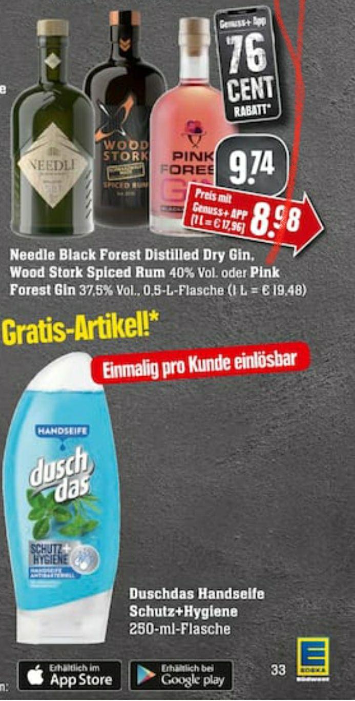 Needle gin oder pink gin + gratis duschdas handseife