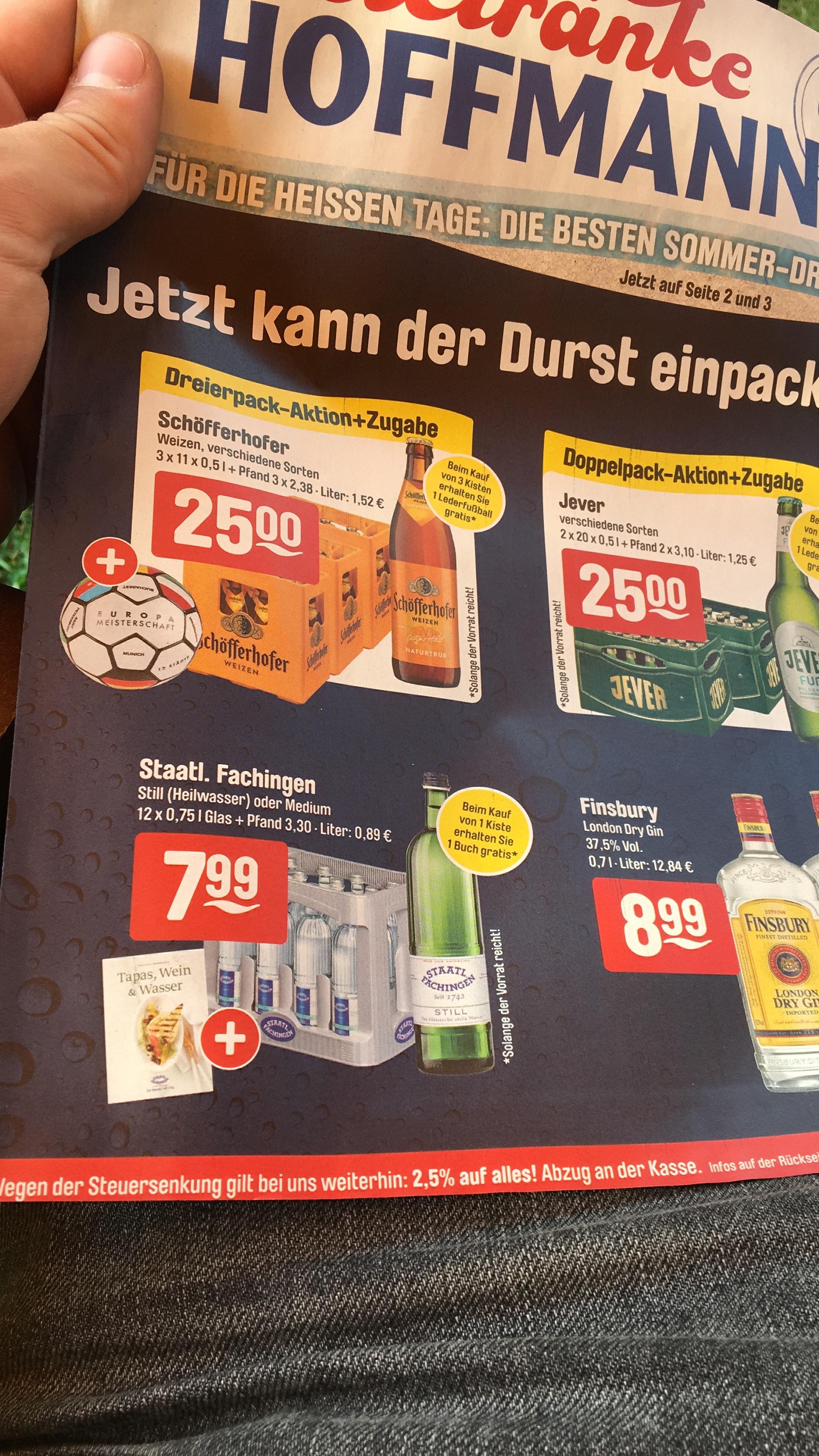 Getränke Hoffmann [evtl. lokal] Staatlich Fachingen