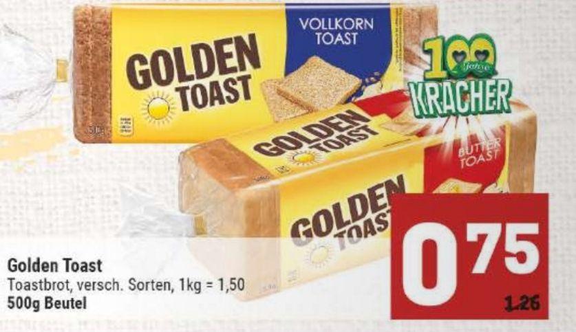 [Marktkauf Minden-Hannover] 2x Golden Toast mit Coupon für 1€