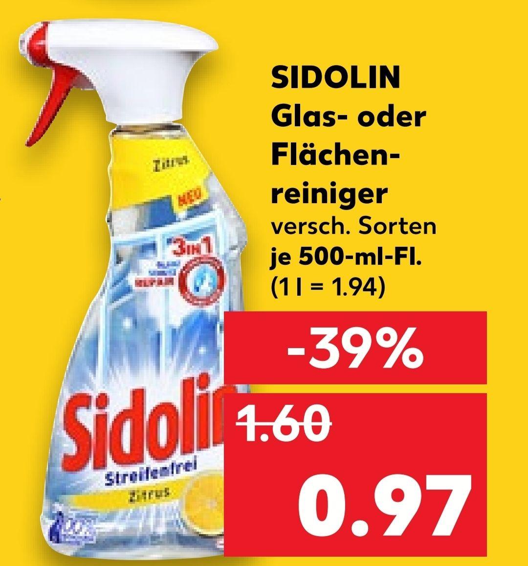 [Kaufland Do-Mi] 4x Sidolin Glas- oder Flächenreiniger für 1,88€ (Stückpreis = 0,47€)