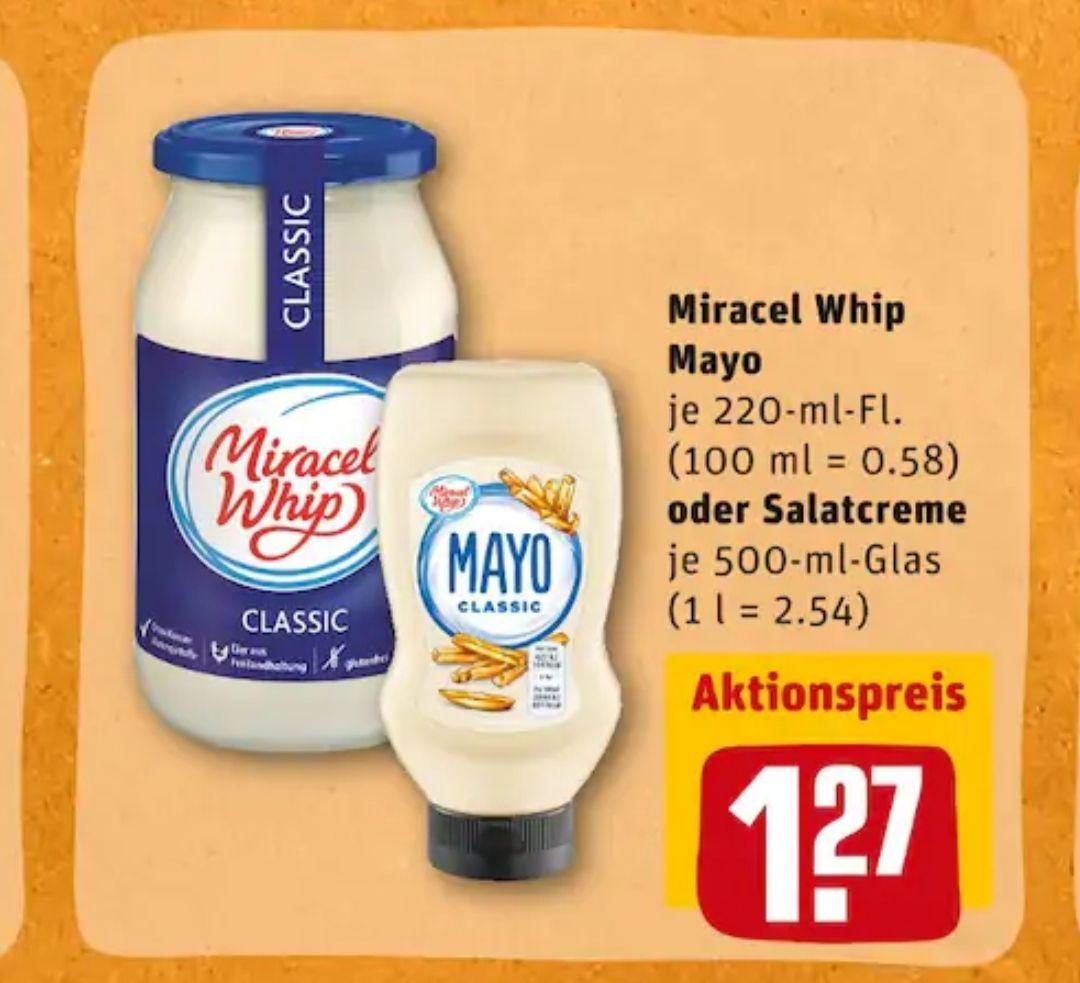 [Rewe] 2x Miracel Whip Mayo 220ml mit Coupon für 1,54€