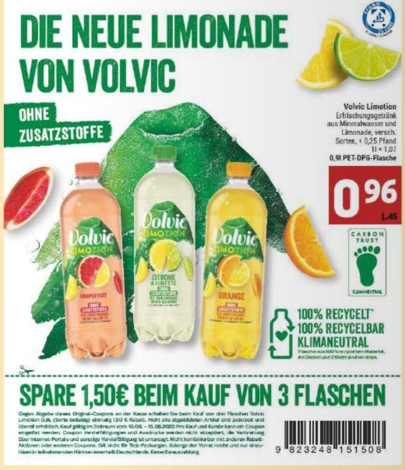 [Marktkauf Minden-Hannover] 3x Volvic Limotion 0,9l mit Prospekt Coupon für 1,38€
