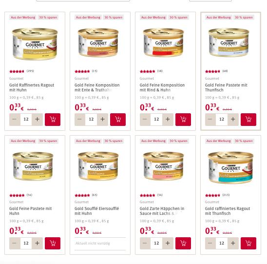 [Rossmann] 15x PURINA Gourmet Gold für ~19Cent/Stück | mit Coupon