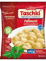 Dovgan Taschki Pelmeni verschiedene Sorten die 500g Packung in der Region Ost nur 1,75€ Region West 1,95€