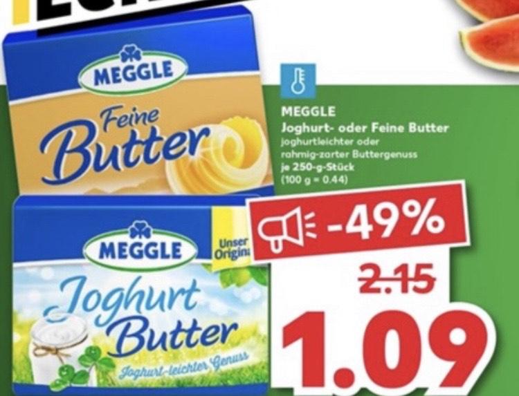 [kaufland] Meggle Butter Feine Butter oder Joghurt 250g für 1,09€