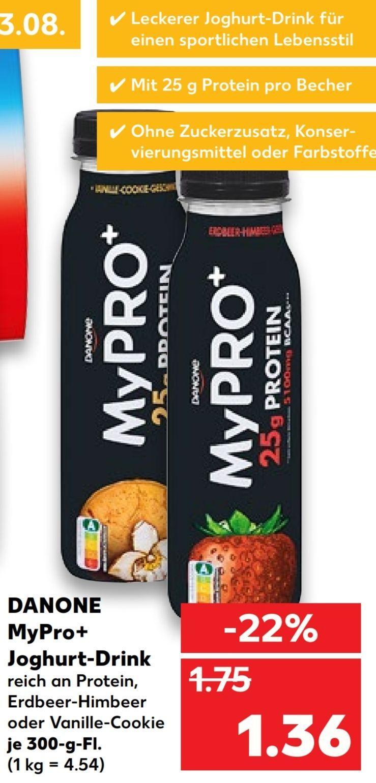 [Kaufland Do-Mi] Danone MyPro+ Jogurt Drink versch. Sorten mit Protein dank Coupon für 0,86€