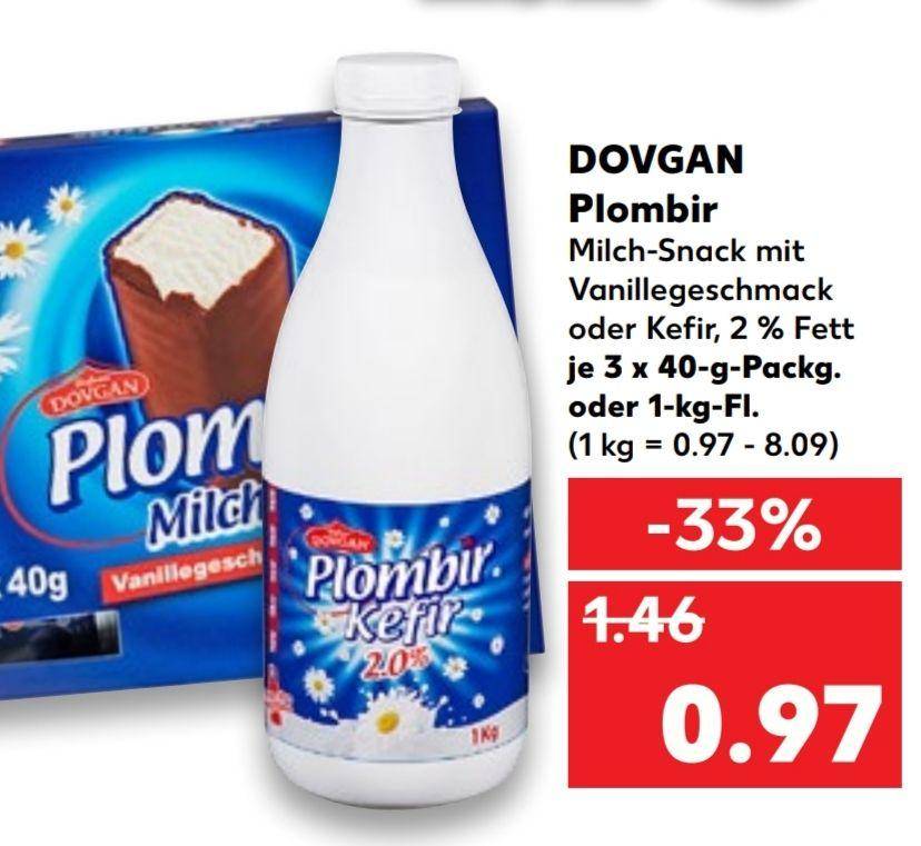 [Kaufland Do-Mi] Dovgan Plombir Kefir 1KG für 0,97€