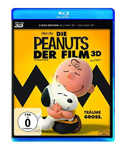 Die Peanuts - Der Film 3D (Blu-ray 3D + Blu-ray) für 7,99€ (Amazon Prime)