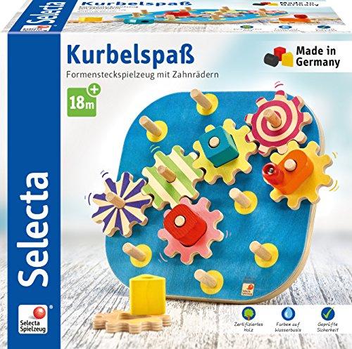 Selecta Kurbelspaß, Motorikspielzeug aus Holz, 20,5 cm für 11,65€ (Amazon Prime)