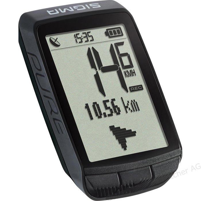 Sigma Pure GPS sehr zuverlässiger GPS Tacho mit Kompass funktion