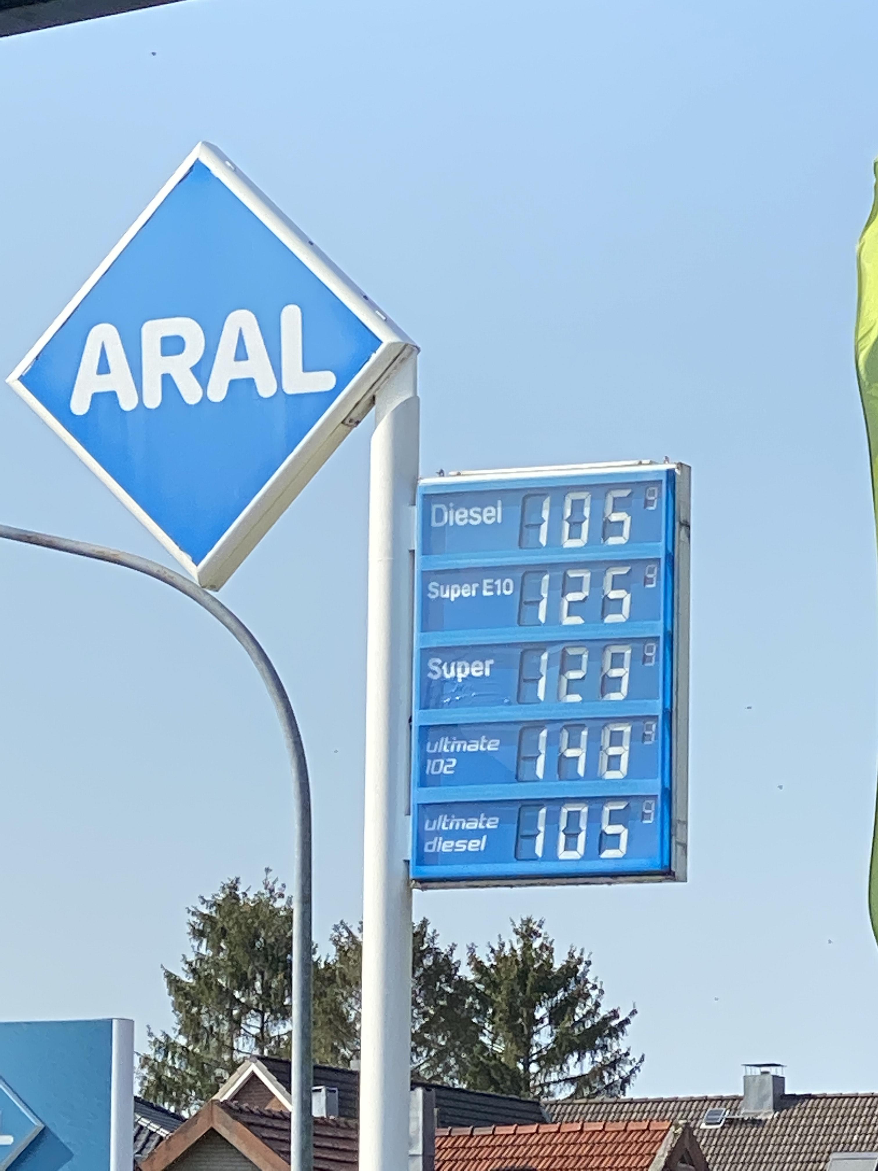 Aral ultimate Diesel zum Diesel Preis