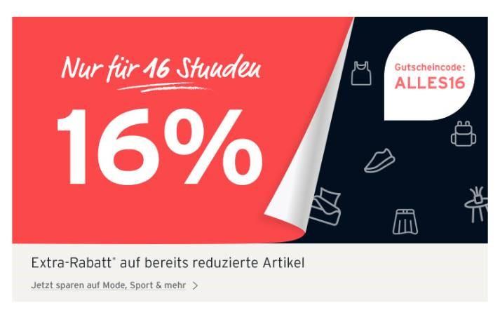 [Tchibo] 16 % auf bereits reduzierte Ware im Onlineshop (DE, CH)