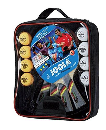 [Amazon Prime & Real Abholung] JOOLA Tischtennis-Set Team School, 4x Tischtennisschläger, 8x Bälle, Aufbewahrungstasche