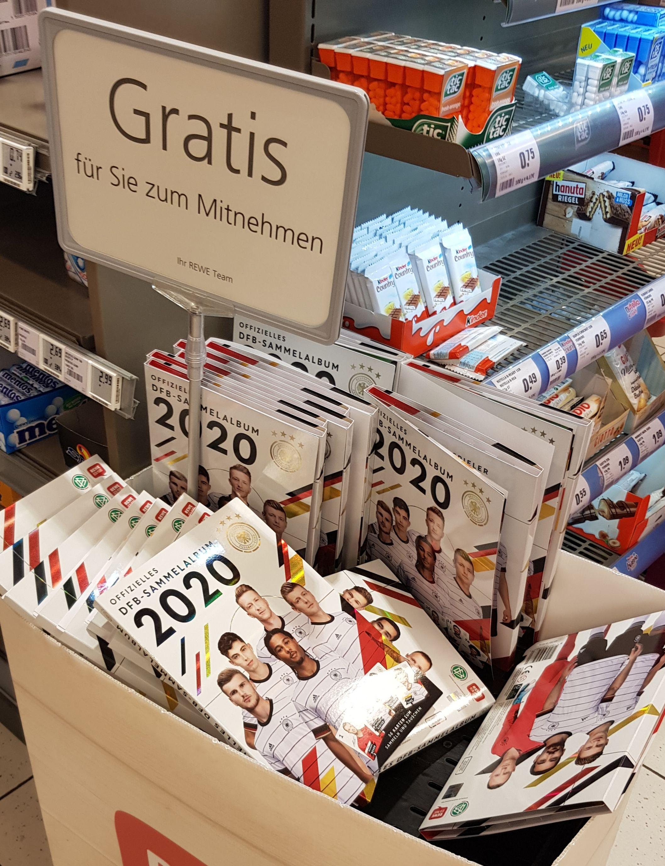 Rewe DFB Fußball Sammelkarten EM 2020 Heft gratis Freebie