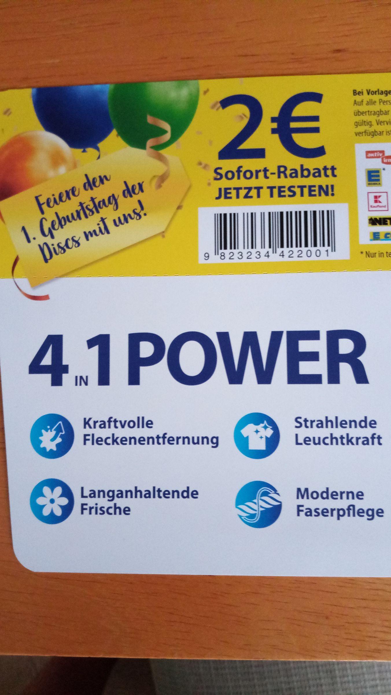 2 Euro Rabatt auf Persil Disc
