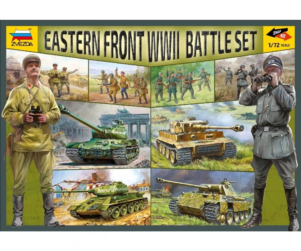 Zvezda - 1:72 WWII Battle Set Ostfront Modellbausatz für 27,30€ (Müller Abholung)