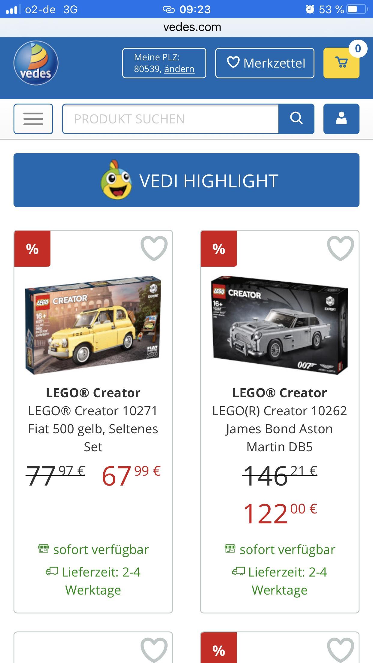 Lego Creator Fahrzeuge