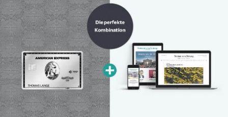 Platinum Card aus Metall + Ein Jahr kostenlos - SZ Plus Basis-Abo