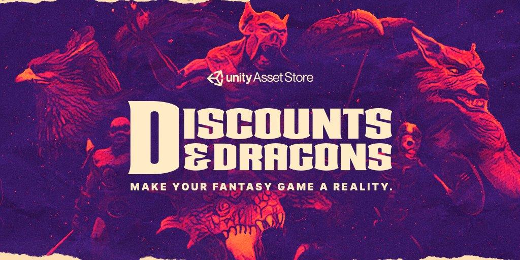 Unity Asset Store Discounts & Dragons Sale (50% Rabatt auf über 160 Fantasy Assets)