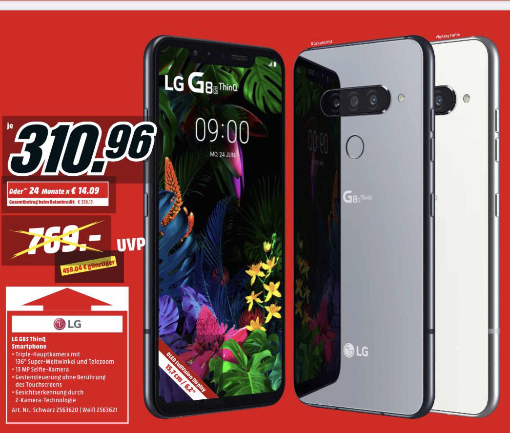 "[MM& Saturn] LG G8s ThinQ Smartphone - 310,96€ | OLED65B9DLA 65"" OLED TV - 1656,19€ | Free FN6 In-Ear Kopfhörer - 125,75€ | UBK90 - 135,50€"