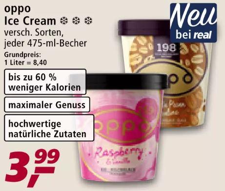Oppo Eis - Ice Cream je 475ml Becher für 3,89€ [Real]