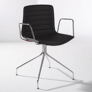 Second Hand Konferenzstühle: Catifa 46 mit Aluminiumgestell (mit/ohne Armlehne) gepolstert in schwarz oder weiß [Wohn-Design.com]