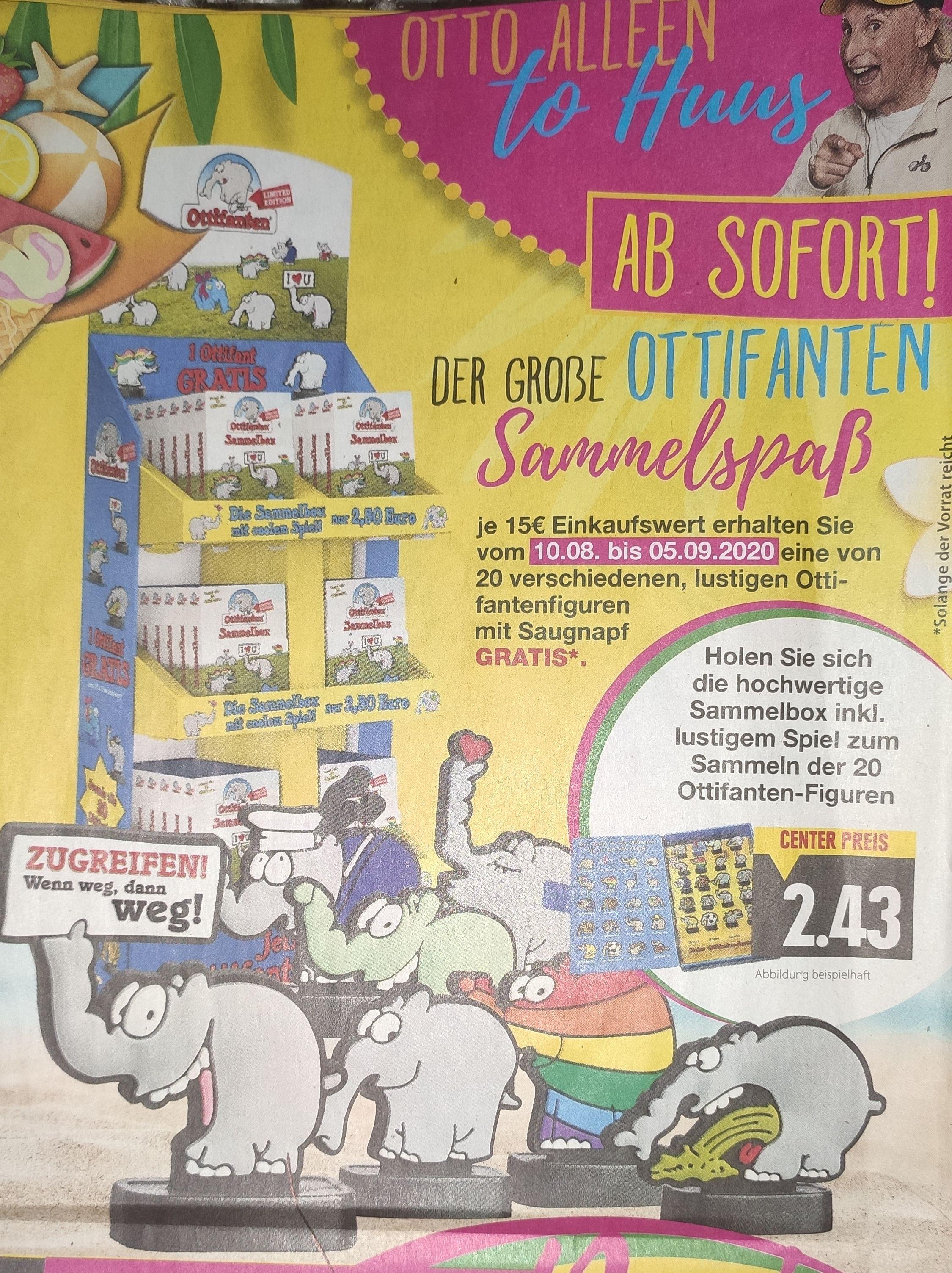 [Edeka +Edeka Center + Marktkauf Minden-Hannover] Je 15€ Einkaufswert 1 Ottifanten bis zum 05.09.2020 gratis