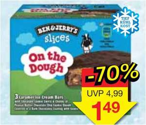 Ben & Jerry's slices, On the Dough, 3 x 89ml für 1,49 Euro [Jawoll]