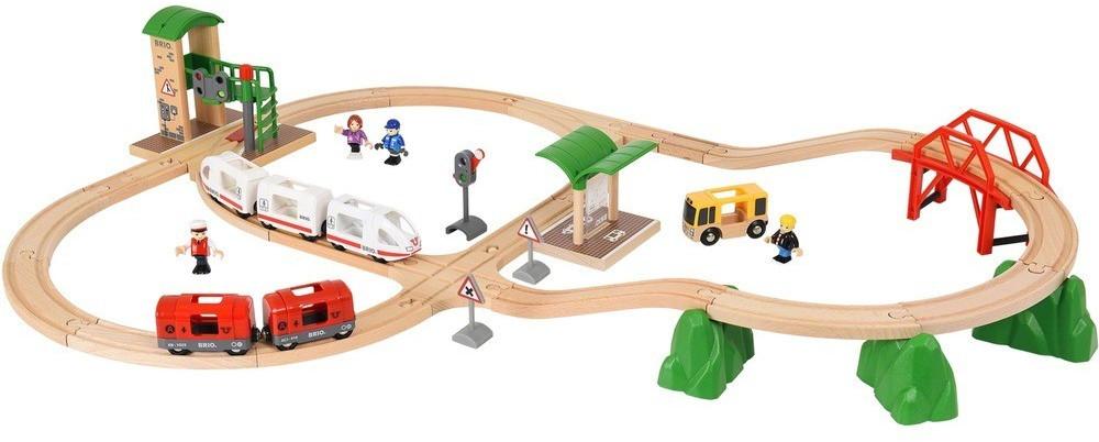 """BRIO Holz-Spielzeugbahn """"World Travel City Set"""" 41-teilig, mit Licht und Soundfunktion für 54,85€ (Alternate)"""