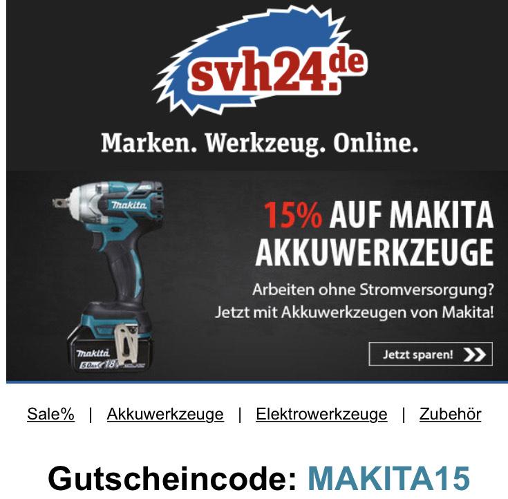 15% auf Makita Akkuwerkzeuge
