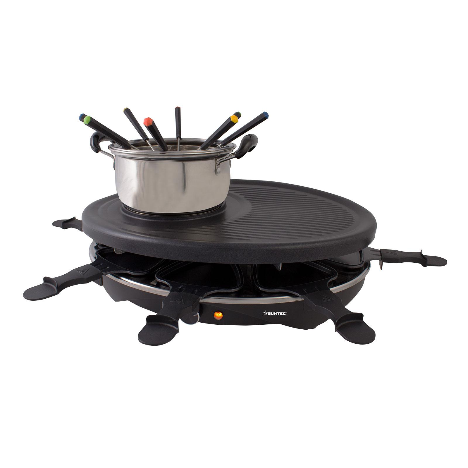 Suntec RAC-8458 Raclette + Fondue für 8 Personen
