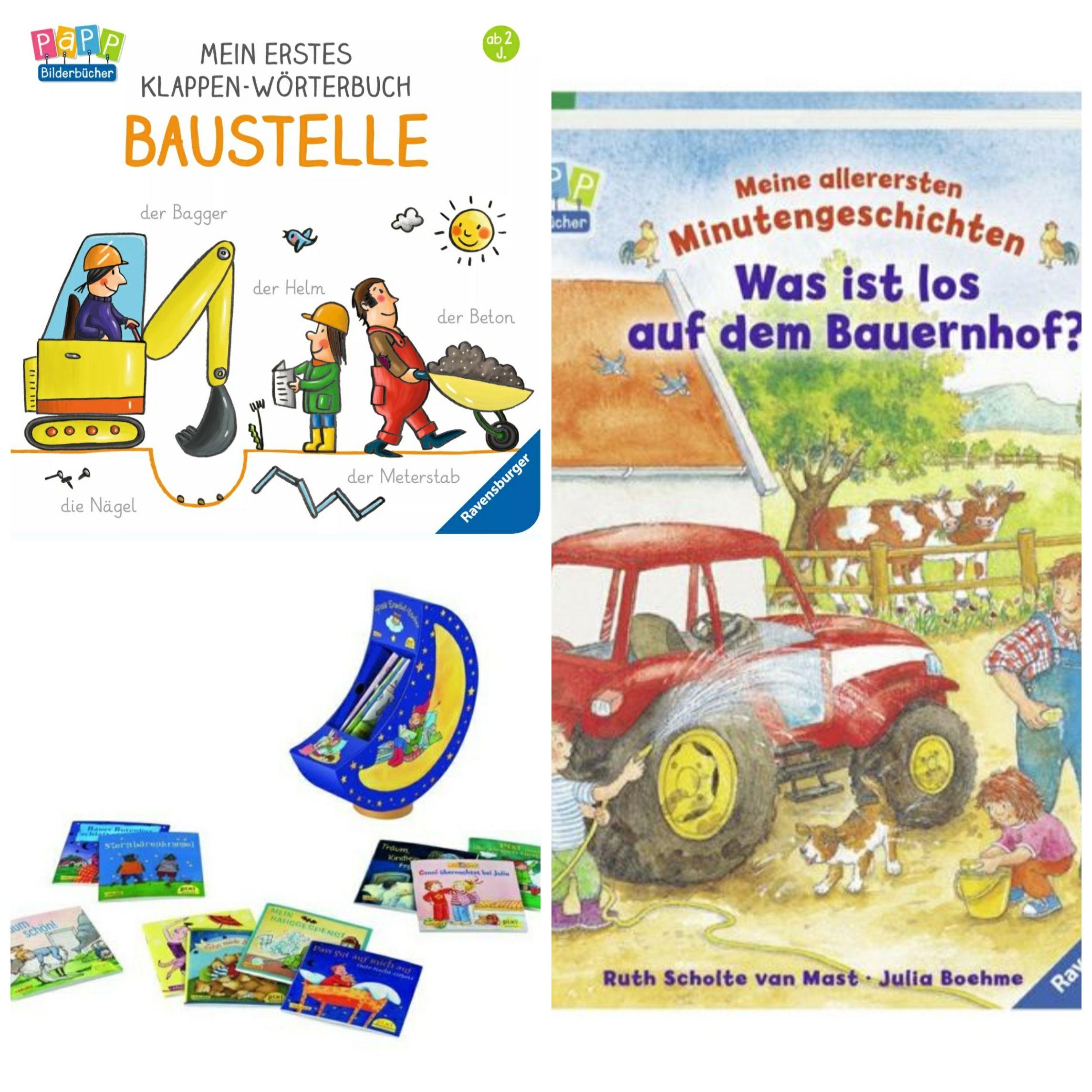 Bücher von Ravensburger (Baustelle + Bauernhof) PIXI Spieluhr mit 15 Pixis