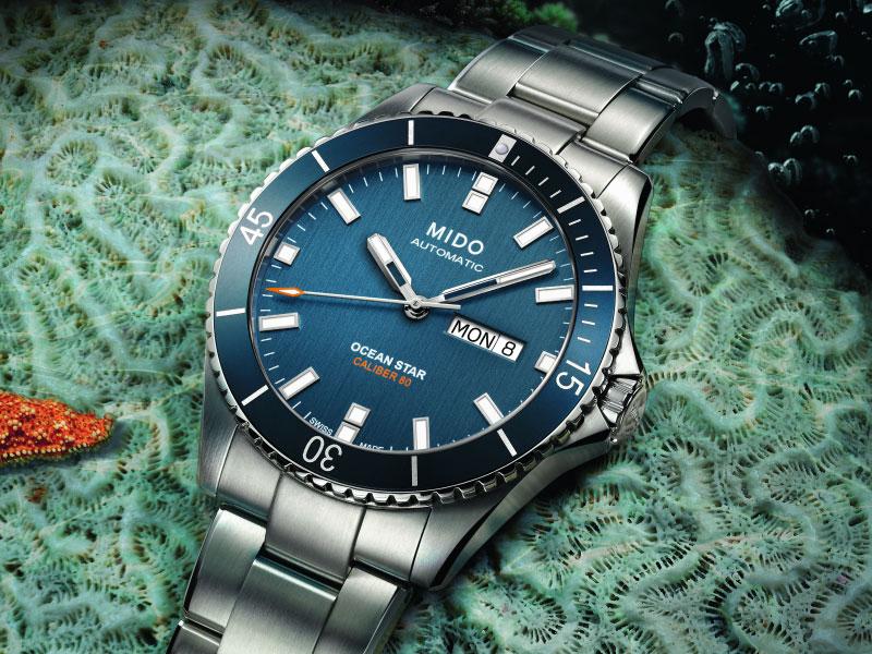 Schlichte Automatic-Diver: MIDO Ocean Star Captain (dunkel-blau)
