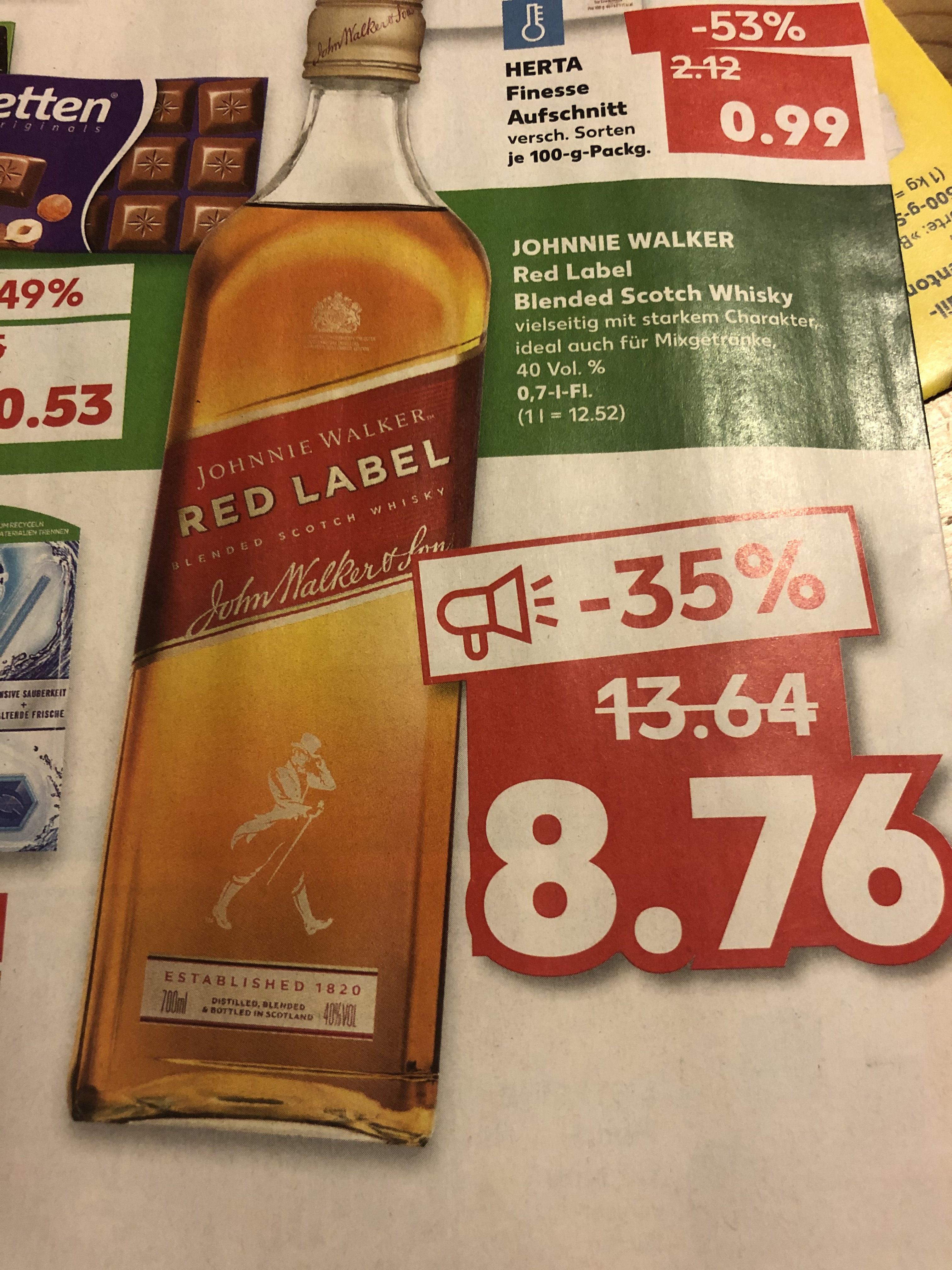 [Kaufland: Niedersachsen] Johnnie Walker Red Label 0.7l ab morgen