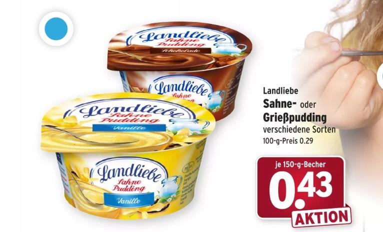 [Wasgau] Landliebe Sahne Pudding - effektiv 0,13€ durch Cashback