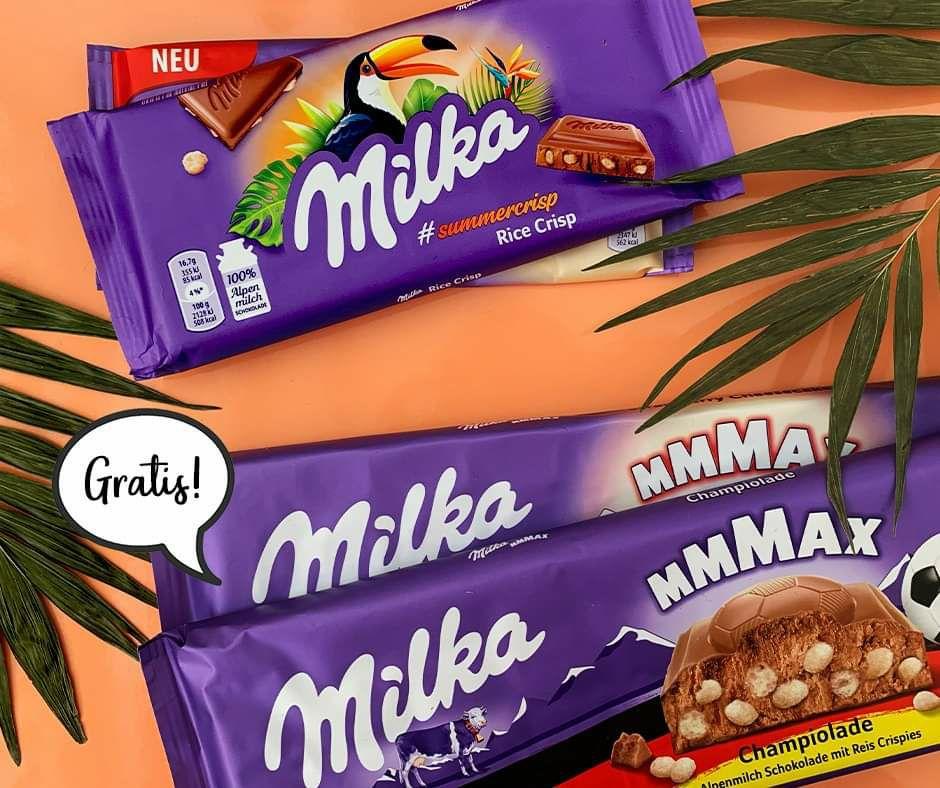Müller Deutschland - Milka Produkte im Wert von mind. 5 € kaufen & eine Milka Champiolade Großtafel 270 Gramm GRATIS erhalten