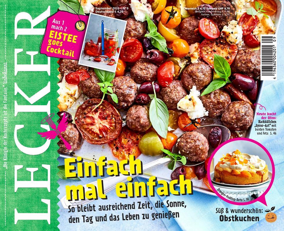 LECKER Kochzeitschrift Jahresabo für € 42,- mit € 35,- Prämie (Amazon / Aral / BestChoice / IKEA / JET / Media Markt)