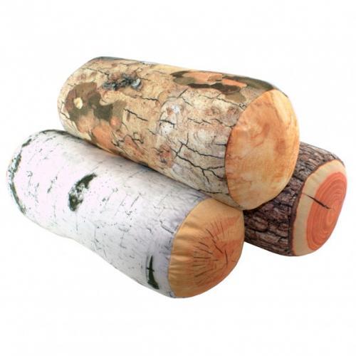 Baumstamm Kissen Birke im Holzklotz Design für 13,95€ + 3,90€ Versand