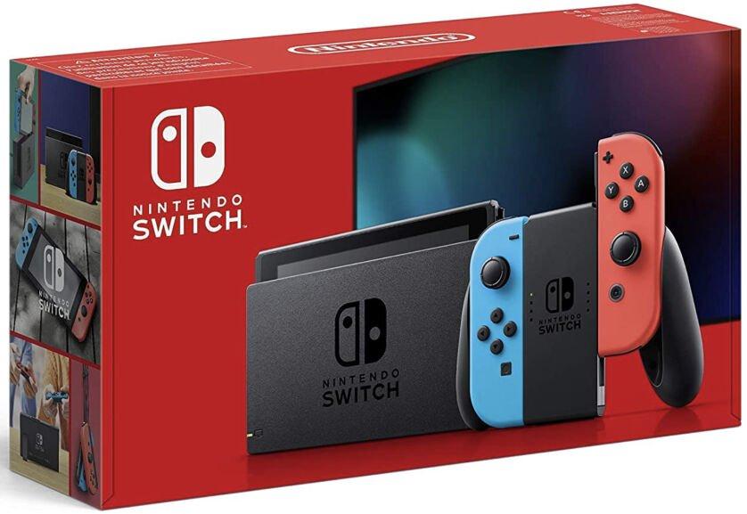 Nintendo Switch Konsole rot/blau für 288,68€ inkl. Versandkosten (in grau für + 6,89€ auch verfügbar)