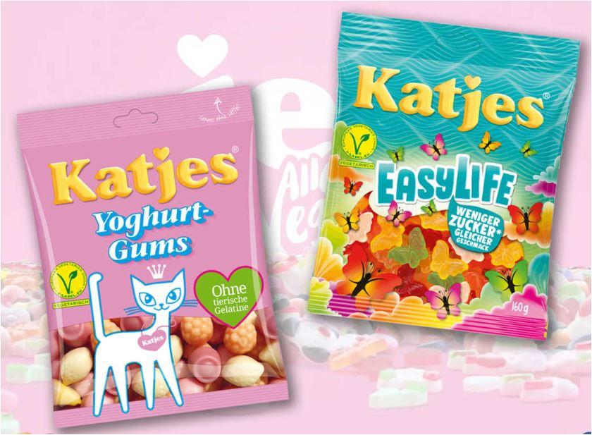 Katjes EasyLife oder Yoghurt-Gums, je 200g-Beutel für 48 Cent [Rewe] / [ab 20.08. Kaufland]