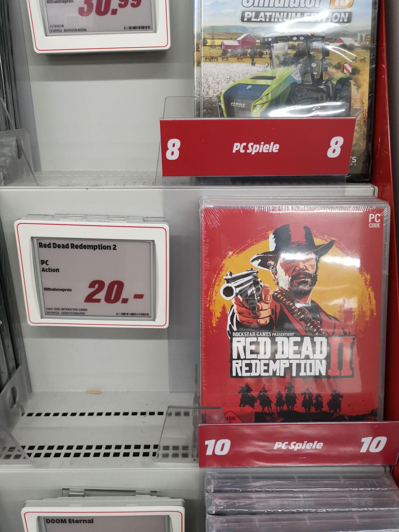 [Lokal] Red Dead Redemption 2 PC Retail Download Code Media Markt Linden Center