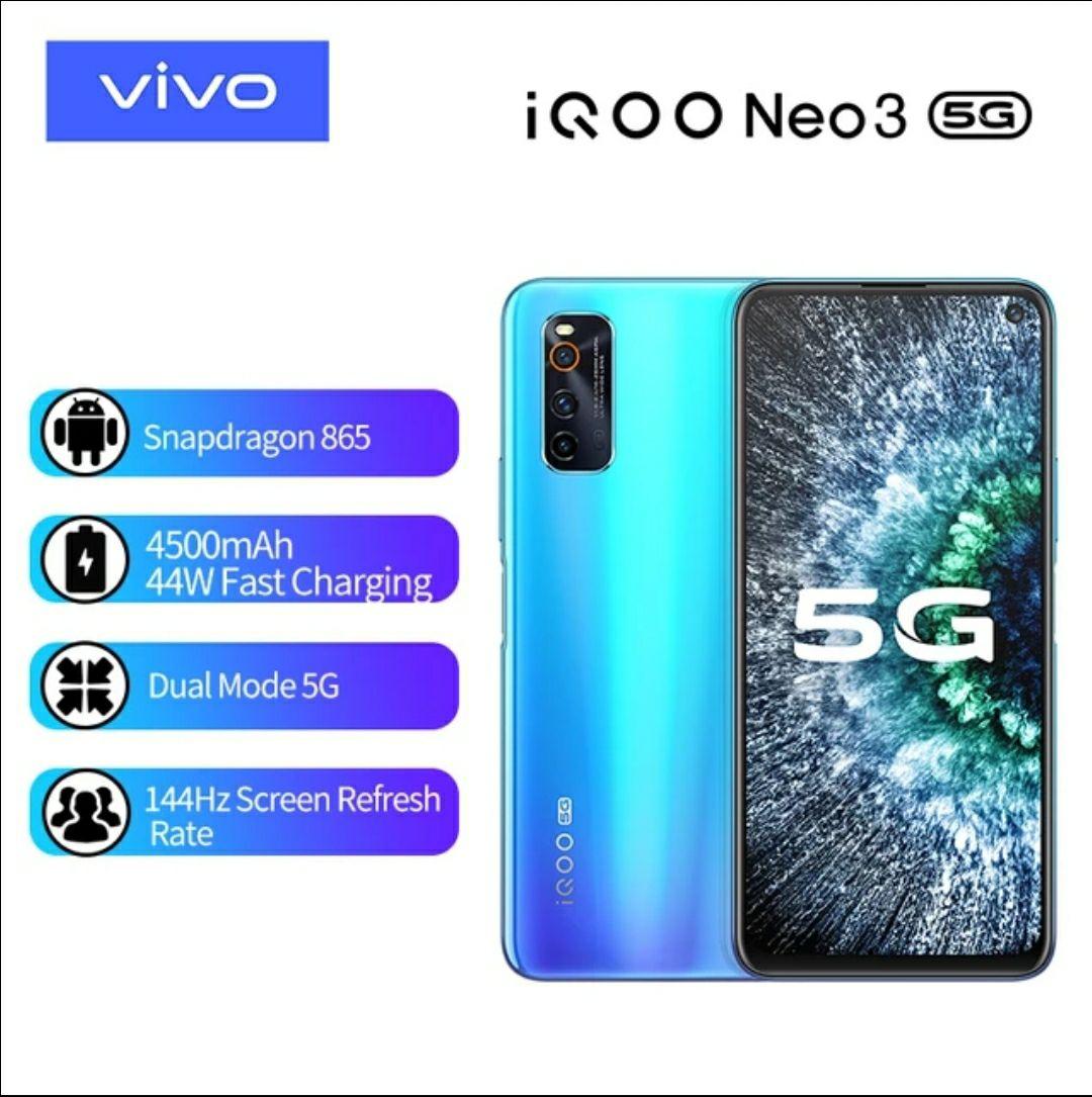Vivo Iqoo Neo 3 (144hz LCD IPS, Snapdragon 865, 5G)