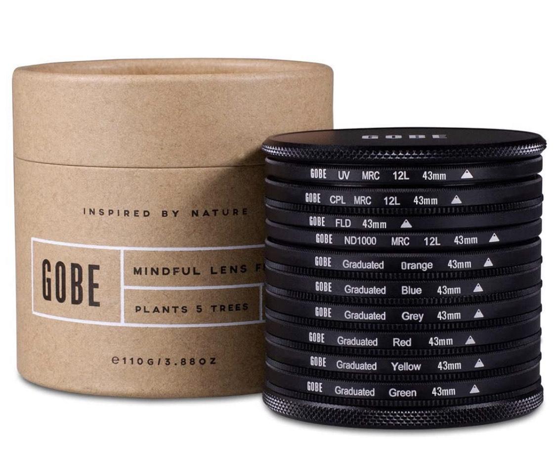 *Prime* Gobe Filter-Set 43mm (UV, CPL, ND1000)