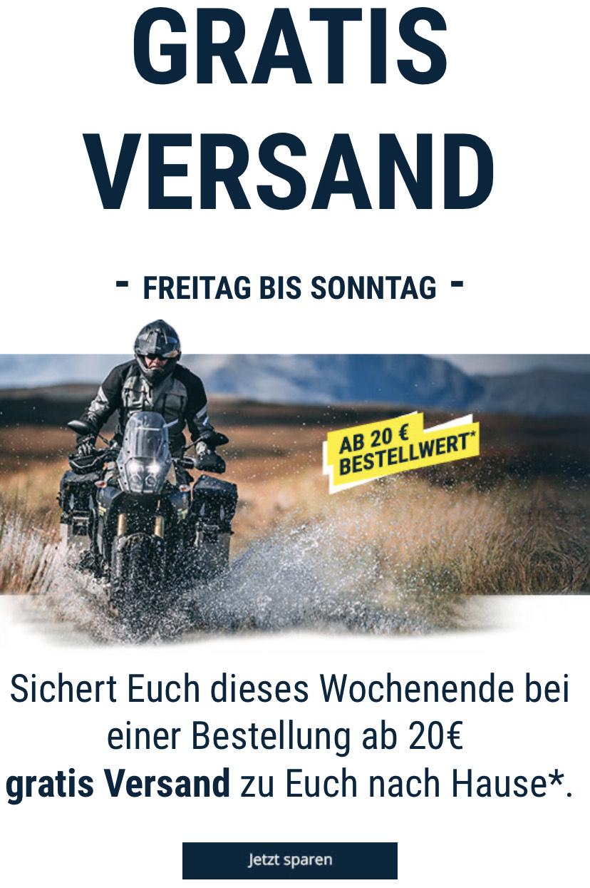 Gratis Versand bei Polo Motorrad ab MbW 20€